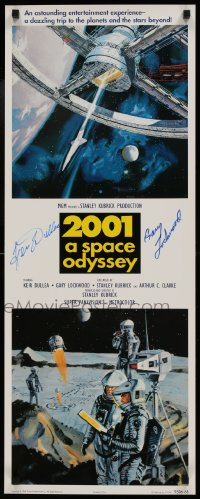9y040 2001: A SPACE ODYSSEY signed 14x36 commercial poster 1995 by Gary Lockwood AND Keir Dullea!