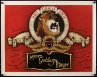 9y020 STARS OF METRO GOLDWYN MAYER signed 24x30 commercial poster 1978 by TWENTY THREE MGM stars!