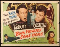 9y026 BUCK PRIVATES COME HOME signed 1/2sh 1947 by Don Porter, great images of Abbott & Costello!