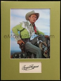 9y019 ROY ROGERS signed 3x5 index card in 12x16 display 1950s ready to frame & hang on the wall!