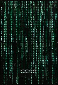 9y114 MATRIX RELOADED signed holofoil teaser 1sh 2003 by BOTH Keanu Reeves AND Hugo Weaving!
