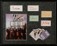 9y001 RAT PACK signed 17x21 framed display 1980s by Frank Sinatra, Dean, Sammy, Lawford AND Bishop!
