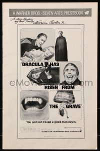 9y006 VERONICA CARLSON signed pressbook 1968 Dracula Has Risen From the Grave advertising!
