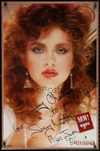 9y025 SHERRY ARNETT signed 23x35 video poster 1985 she was Playboy Playmate of the Month!