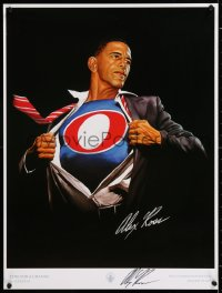 9y034 ALEX ROSS signed Inauguration Day edition 18x24 art print 2009 Time For a Change, Obama!