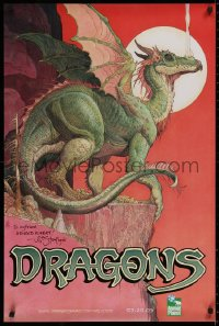 9y024 DRAGONS: A FANTASY MADE REAL signed tv poster 2005 by the artist, William Stout!