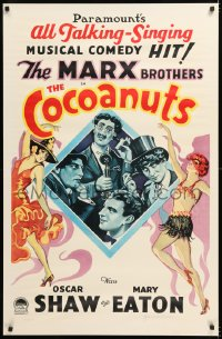 9y036 GROUCHO MARX signed #25/250 27x42 art print 1976 on art used on the 1929 Cocoanuts one-sheet!