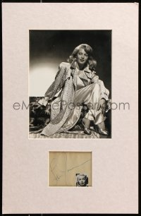 9y009 LANA TURNER signed 3x4 cut album page in 11x17 display 1940s ready to frame & display!