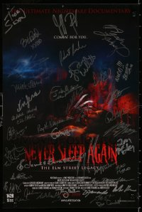 9y038 NEVER SLEEP AGAIN signed mini poster 2010 by THIRTY SIX different cast & crew members!