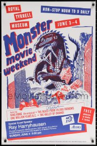 9y021 RAY HARRYHAUSEN signed 23x35 Canadian film festival poster 1980s Monster Movie Weekend!