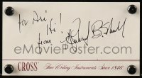 9y011 RICHARD B. SCHULL signed 3x6 card 1980s includes Root Beer Rag magazine!