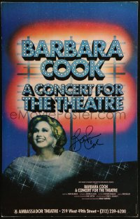 9y004 BARBARA COOK signed stage play WC 1987 performing in A Concert for the Theatre on Broadway!