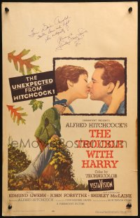 9y002 TROUBLE WITH HARRY signed WC 1955 by Shirley MacLaine, directed by Alfred Hitchcock!