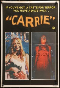 1b093 CARRIE Aust special poster 1977 Stephen King Spacek before and after her bloodbath at the prom