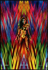 1c993 WONDER WOMAN 1984 teaser DS 1sh 2020 great 80s inspired image of Gal Gadot as Amazon princess!