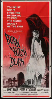 1f003 BURN WITCH BURN 3sh 1962 undead demons of Hell arise to terrorize the world!