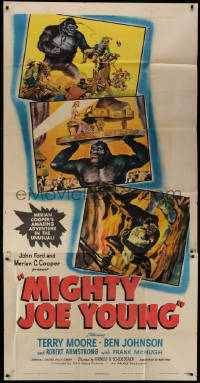 1f002 MIGHTY JOE YOUNG style C 3sh 1949 1st Ray Harryhausen, three Widhoff art images, ultra rare!