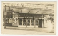1f031 DRACULA/FRANKENSTEIN 3.25x5.25 photo 1938 wonderful image of theater front with posters & displays!