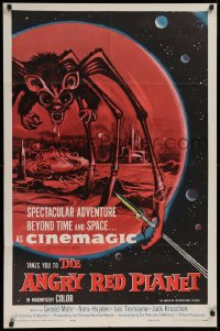 1f058 ANGRY RED PLANET 1sh 1960 great art of gigantic drooling bat-rat-spider creature!