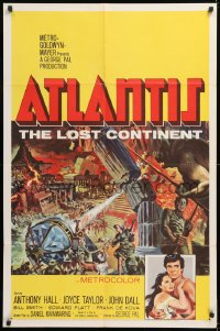 1f061 ATLANTIS THE LOST CONTINENT 1sh 1961 George Pal sci-fi, cool fantasy art by Joseph Smith!