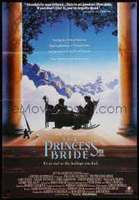 1f010 PRINCESS BRIDE Aust 1sh 1987 Rob Reiner fantasy classic as real as the feelings you feel!