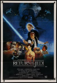 1f011 RETURN OF THE JEDI style B Aust 1sh 1983 George Lucas classic, Hamill, Harrison Ford, Sano art