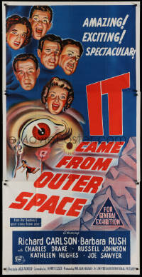 1f007 IT CAME FROM OUTER SPACE Aust 3sh 1955 Jack Arnold classic 3-D sci-fi, different art!