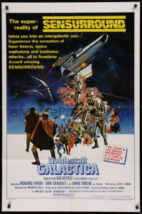 1f067 BATTLESTAR GALACTICA style C 1sh 1978 great sci-fi art by Robert Tanenbaum!