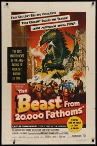 1f068 BEAST FROM 20,000 FATHOMS 1sh 1953 Ray Bradbury's tale of the sea's master-beast of the ages!