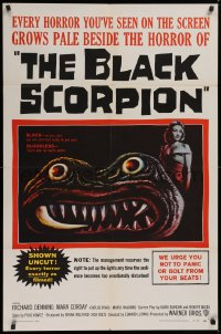 1f070 BLACK SCORPION 1sh 1957 art of wacky creature looking more laughable than horrible!