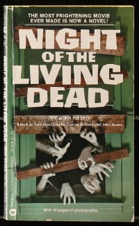 1f027 NIGHT OF THE LIVING DEAD paperback book 1974 the most frightening movie ever is now a novel!