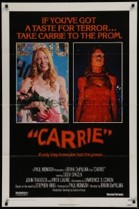 1f074 CARRIE 1sh 1976 Stephen King, Sissy Spacek before and after her bloodbath at the prom!