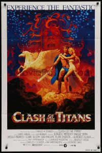 1f077 CLASH OF THE TITANS int'l 1sh 1981 Ray Harryhausen, fantasy art by Greg & Tim Hildebrandt!