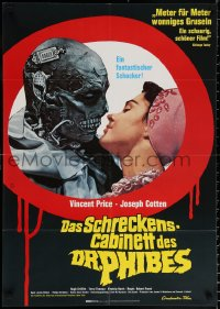 1f041 ABOMINABLE DR. PHIBES German 1972 Vincent Price, great different horror image, ultra-rare!