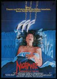 1f049 NIGHTMARE ON ELM STREET German 1985 different Rohrbach art of claws attacking naked girl!
