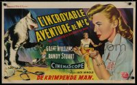 1g056 INCREDIBLE SHRINKING MAN Belgian 1957 classic sci-fi, cool different special effects artwork!