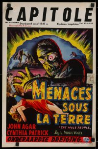 1g058 MOLE PEOPLE Belgian 1956 from a lost age, horror crawls from the depths of the Earth!