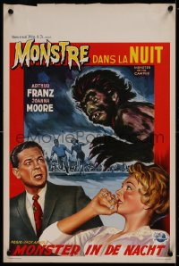 1g059 MONSTER ON THE CAMPUS Belgian 1958 Arthur Franz, great art of the beast amok at college!