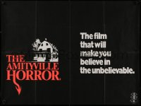 1g067 AMITYVILLE HORROR teaser British quad 1979 it will make you believe in the unbelievable, rare!
