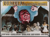 1g071 DRACULA HAS RISEN FROM THE GRAVE British quad 1969 Hammer, Chantrell art of Christopher Lee!
