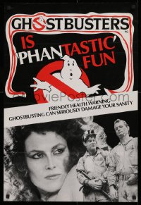 1g065 GHOSTBUSTERS English double crown 1984 it's Phantastic Fun, friendly health warning, rare!