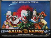 1g064 KILLER KLOWNS FROM OUTER SPACE 20x26 English video poster 1988 different Tom Simpson art!
