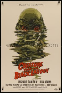 1g022 CREATURE FROM THE BLACK LAGOON signed #264/325 1st edition Mondo 24x36 art print 2012 by Francavilla!