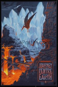 1g024 JOURNEY TO THE CENTER OF THE EARTH signed #72/265 24x36 art print 2014 by artist Durieux!