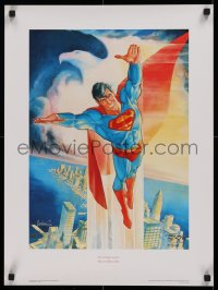 1g033 SUPERMAN signed #77/2500 limited edition 17x23 Canadian art print 1988 by artist Jose Lopez!