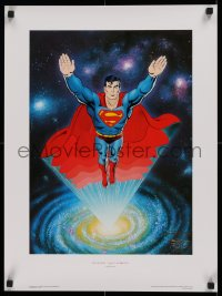1g032 SUPERMAN signed #77/2500 17x23 Canadian art print 1988 by artist Curt Swan