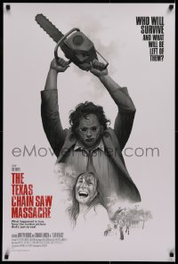 1g034 TEXAS CHAINSAW MASSACRE #59/65 variant edition 24x36 art print 2018 art of Leatherface!