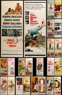 1m024 LOT OF 23 UNFOLDED INSERTS 1950s-1970s great images from a variety of different movies!