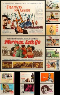 1m026 LOT OF 17 UNFOLDED HALF-SHEETS 1960s great images from a variety of different movies!