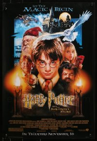 1m035 LOT OF 16 UNFOLDED HARRY POTTER & THE PHILOSOPHER'S STONE 17X25 MINI POSTERS 2001 Drew art!